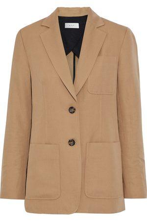 A.L.C. Woman Ludlow Cotton And Linen-blend Twill Blazer Camel Size 0