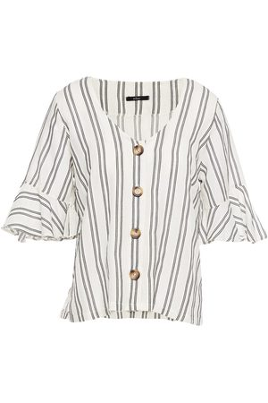 Else Women Shirts - Woman Capri Striped Cotton-blend Jacquard Shirt Size L