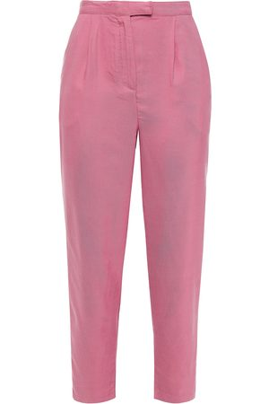 American Vintage Women Trousers - Woman Nalastate Cropped Lyocell-twill Tapered Pants Antique Rose Size S
