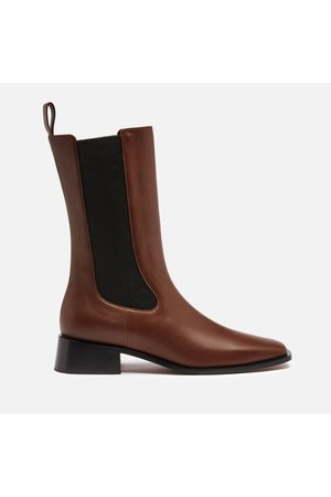 Neous Women's Pros Leather Mid Calf Chelsea Boots