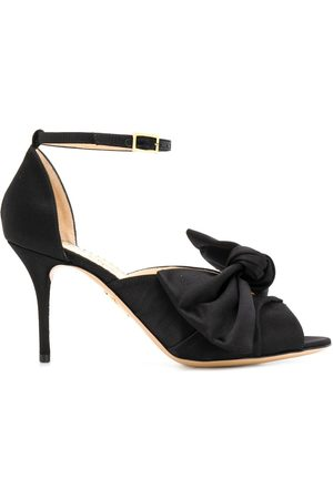 Charlotte Olympia Women Heels - Bow front stiletto sandals