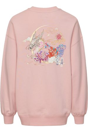 Evisu Women Sweatshirts - Moonlight Dragon Print Sweatshirt