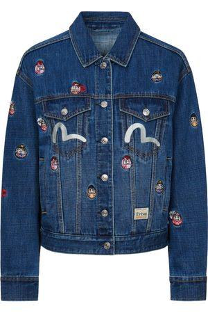 Evisu Allover Daruma Embroidered Denim Jacket