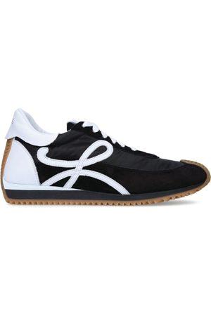 Loewe Suede-Panel Flow Runner Sneakers