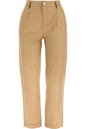 RED Valentino LEATHER TROUSERS 38 Leather