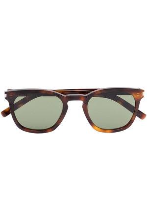 Saint Laurent Eyewear Men Sunglasses - Square-frame tortoiseshell sunglasses