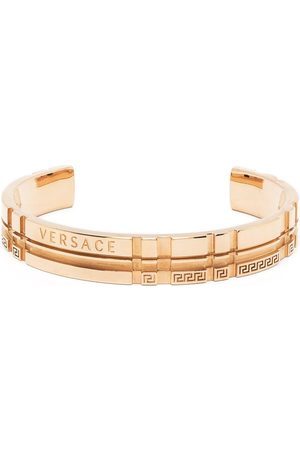 VERSACE Men Bracelets - Tartan cuff bracelet
