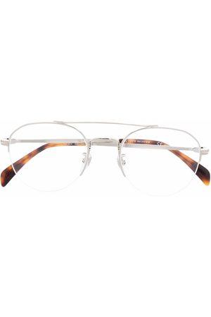 DB EYEWEAR BY DAVID BECKHAM Tortoiseshell-effect aviator-frame glasses