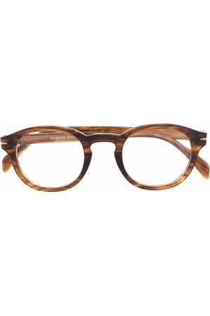 DB EYEWEAR BY DAVID BECKHAM Tortoiseshell-effect round-frame glasses