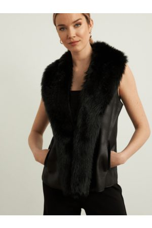 Joseph Ribkoff Faux Fur Gilet 213996 11