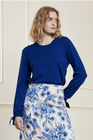 Fabienne Chapot Molly Bow Pullover in Cobalt
