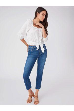 Paige Women Slim - Paige Sarah Slim Crop Raw Hem Jeans Starcrossed