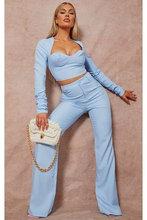 PRETTYLITTLETHING Women Trousers - Baby Woven High Waist Tailored Trousers
