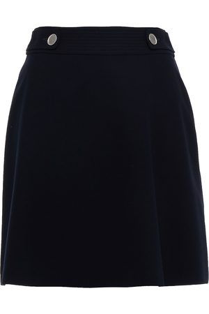 Claudie Pierlot Woman Kate Button-detailed Crepe Mini Skirt Navy Size 42