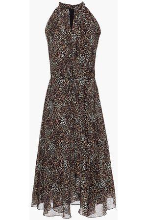 SALONI Woman Midi Dress Animal Print Size 10