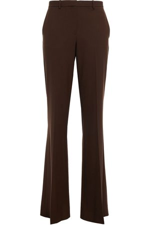 THEORY Women Formal Trousers - Woman Wool-blend Flared Pants Chocolate Size 0