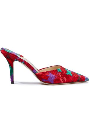 MAGDA BUTRYM Women Sandals - Woman France Printed Velvet Mules Size 36