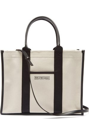 Balenciaga Neo M Canvas Tote Bag - Womens - Cream