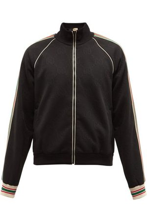 Gucci Men Summer Jackets - Web-stripe Gg-jacquard Zipped Jersey Track Jacket - Mens