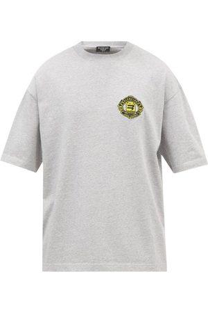 Balenciaga Logo-embroidered Cotton-jersey T-shirt - Mens