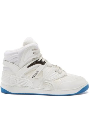 Gucci Basket High-top Faux-leather Trainers - Mens