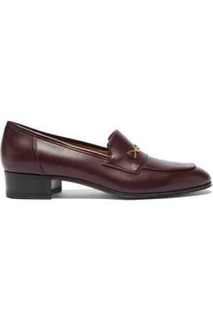 Gucci GG Horsebit Leather Loafers - Womens - Burgundy