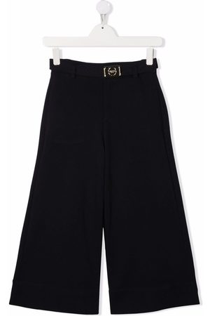Lanvin TEEN buckle-detail tailored trousers