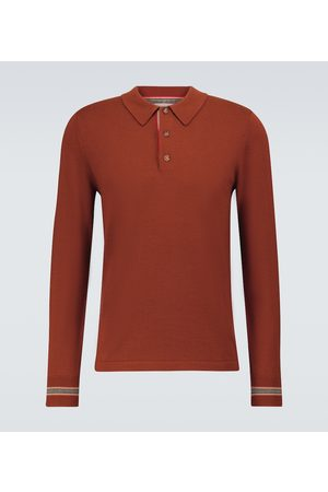 Burberry Pace merino wool long-sleeved polo