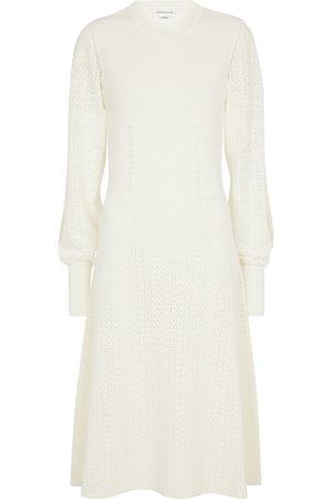 Victoria Beckham Pointelle-knit midi dress