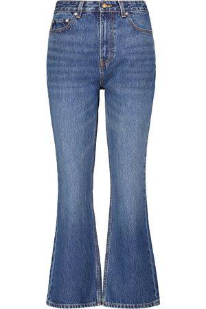 Ganni High-rise straight jean