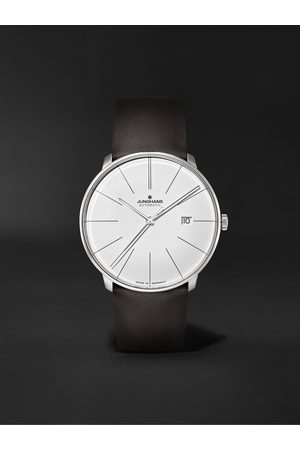 Junghans Men Watches - Meister Fein Automatic 39.5mm Stainless Steel and Leather Watch, Ref. No. 27/4152.00