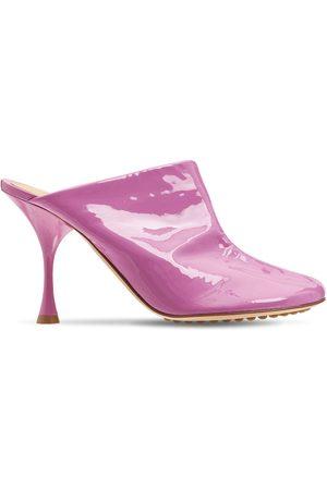 Bottega Veneta 90mm Dot Patent Leather Sock Mules