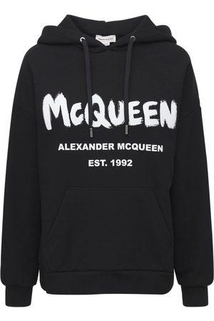 Alexander McQueen Cotton Mcqueen Graffiti Hoodie
