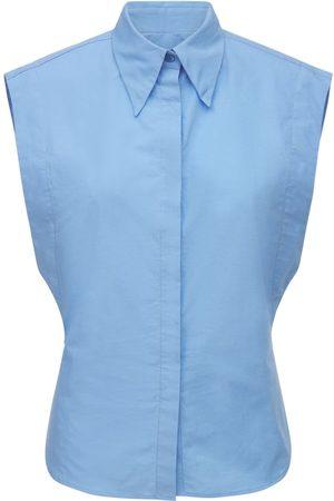 Isabel Marant Renzae Sleeveless Poplin Shirt