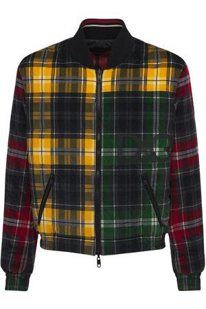 Dolce & Gabbana Men Bomber Jackets - Padded Tartan Corduroy Bomber Jacket