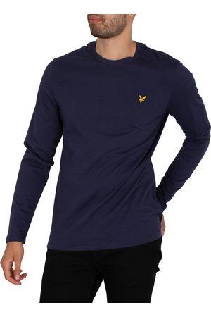 Lyle & Scott Men Long Sleeve - Plain Longsleeved T-Shirt