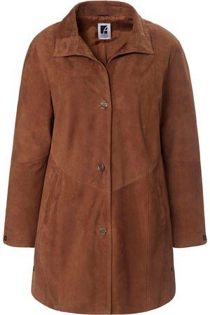 Anna Aura Leather swing coat in kidskin suede size: 20