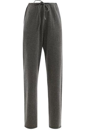 EXTREME CASHMERE No.142 Run Stretch-cashmere Wide-leg Track Pants - Womens - Dark