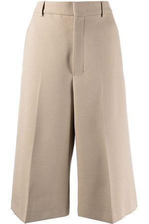 Ami Women Wide Leg Trousers - Cropped wide-leg trousers - Neutrals