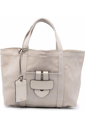 Tila March Simple slip-pocket tote bag - Neutrals