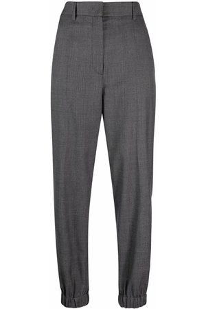 Prada High-waisted plaid trousers