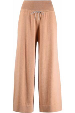 Fabiana Filippi Drawstring-waist wide-leg cropped trousers