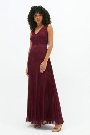 Coast Women Skirts - Coast V Neck Embroidered Maxi Dress -, Aubergine