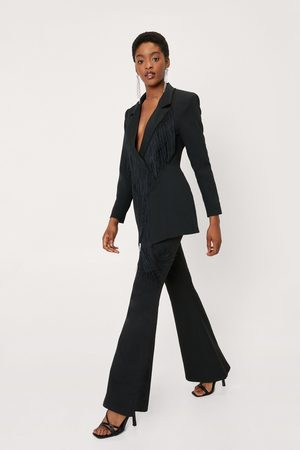 NASTY GAL Women Formal Trousers - Womens High Waisted Flared Tailored trousers