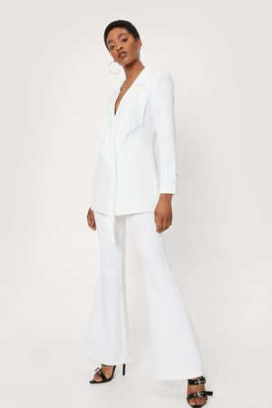 NASTY GAL Womens High Waisted Flared Tailored trousers