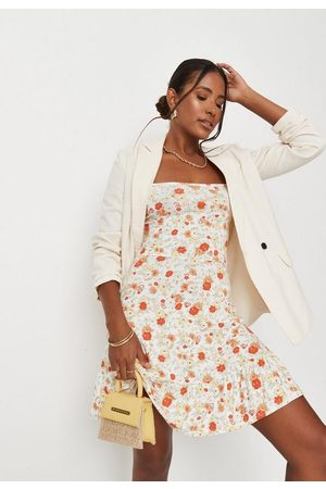 Missguided Women Printed Dresses - Ditsy Floral Print Cross Back Jersey Cami Dress