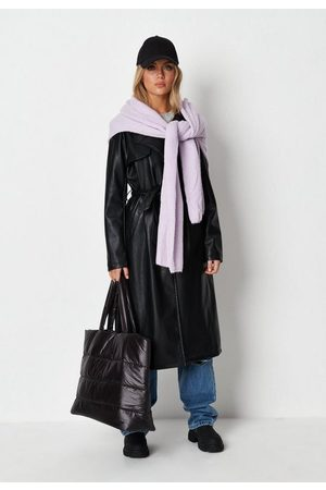 Missguided Women Trench Coats - Faux Leather Trench Coat