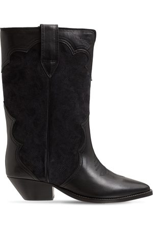 Isabel Marant 40mm Duerto Leather & Suede Boots