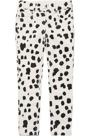 Stella McCartney Girls Trousers - Dalmatian Print Corduroy Cotton Pants