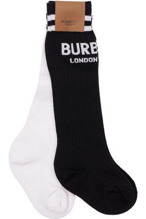 Burberry Boys Socks - Set Of 2 Cotton Blend Knit Socks